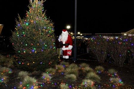 Santa lights tree at 2018 Moriches Chamber tree lighting