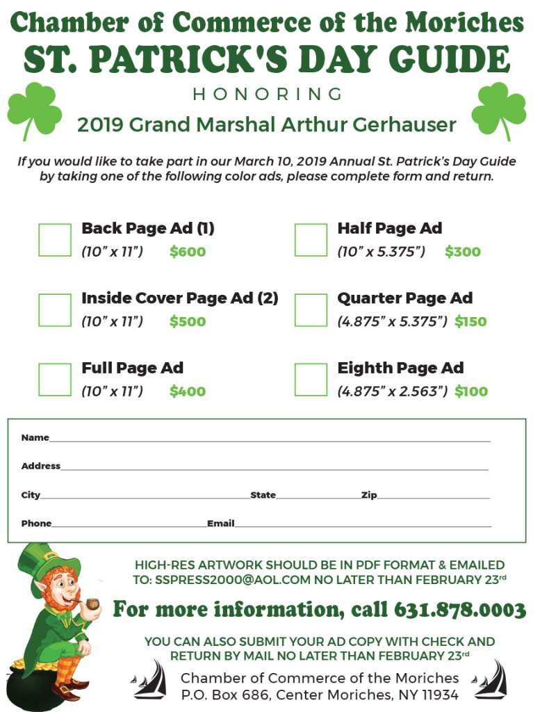 St. Patrick's Parade Journal Ad