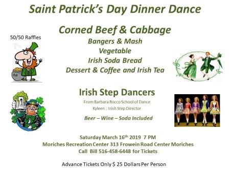 Saint Patrick's Day Dinner Dance @ Moriches Recreation Center | Center Moriches | New York | United States