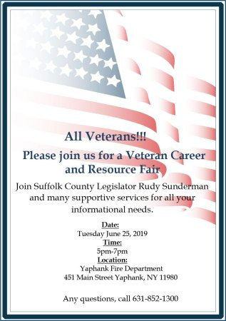 Veteran Career & Resource Fair @ Yaphank Fire Department | Yaphank | New York | United States