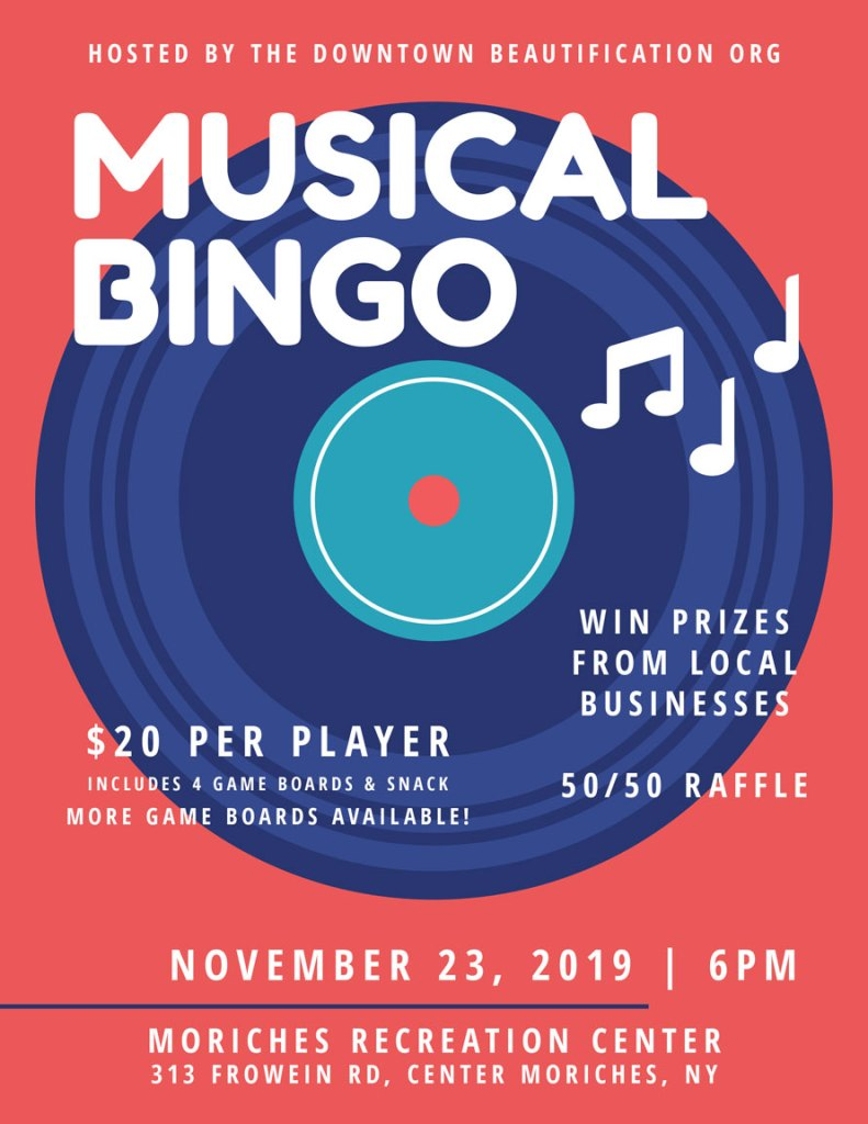 Musical Bingo Fundraiser for the Downtown Beautification Organization