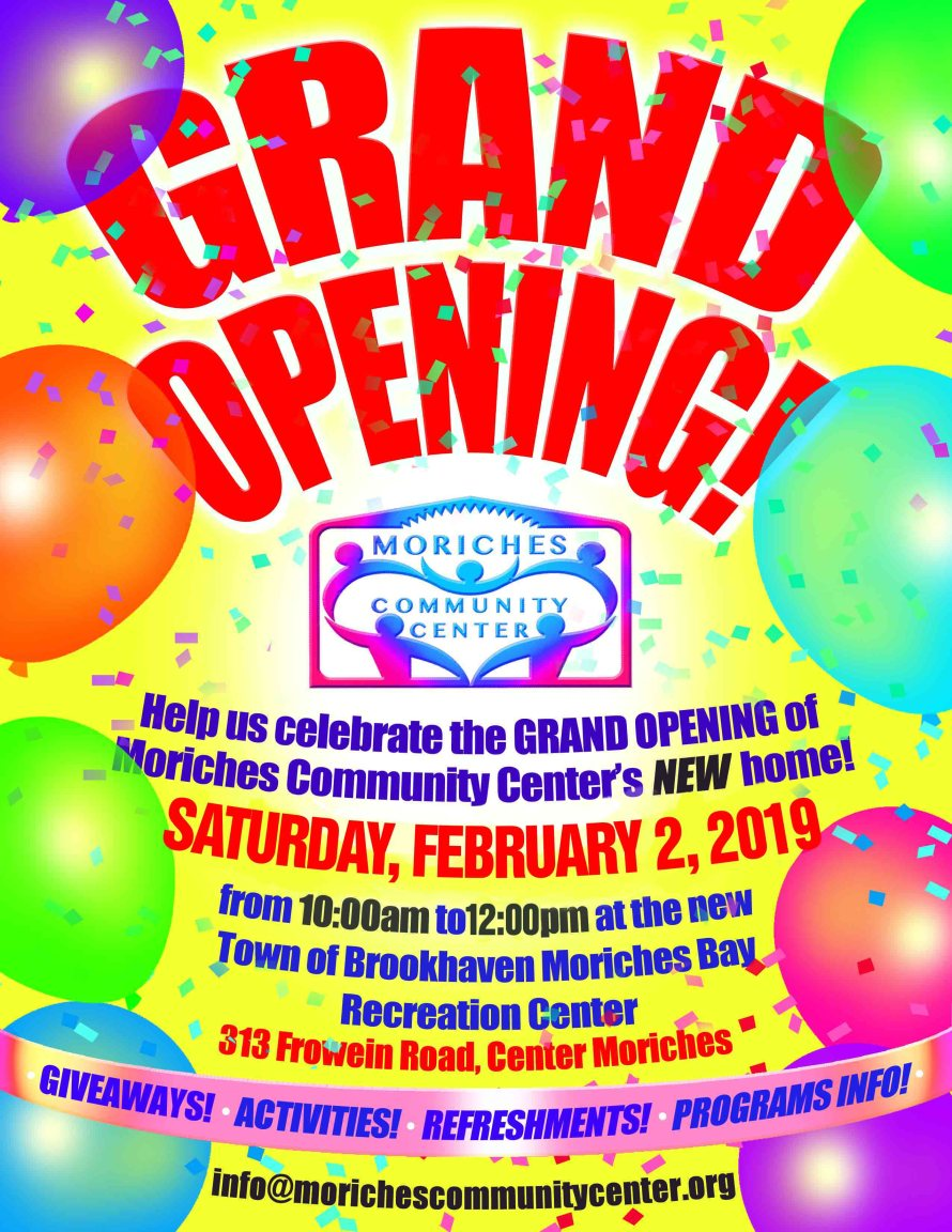 Moriches Bay Recreation Center grand opening