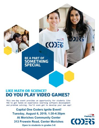 Capital One Coders Ignite @ Moriches Community Center | Center Moriches | New York | United States