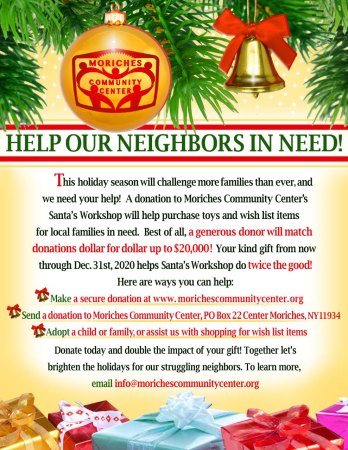 holiday donation flyer