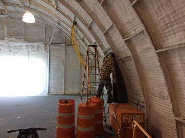 Moriches Field Brewery construction - 3