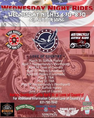 Schedule of Love of Wednesday night rides