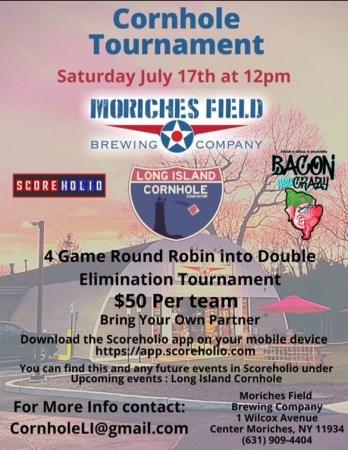 Poster describing Cornhole Tournament