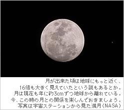宇宙ステーションからの満月