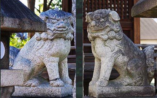 津嶋部神社狛犬