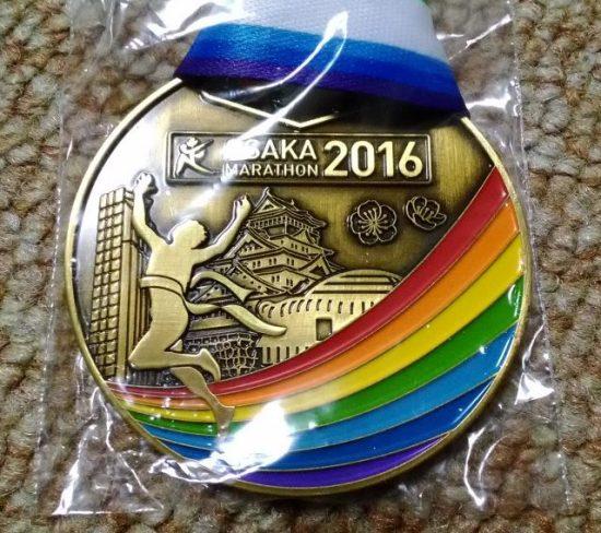 大阪マラソン 完走メダル 表