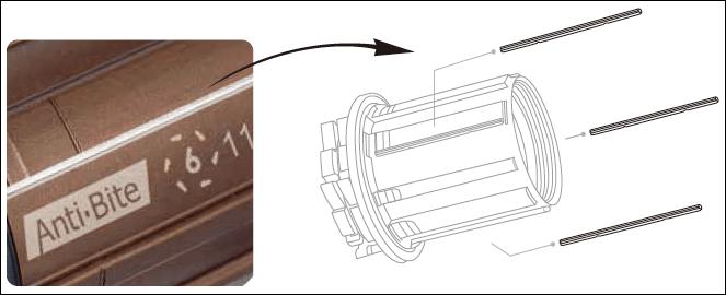 R07T-A2C1 R9 Alloy 10s / 11s bitex フリーボディ anti bite ステンレス