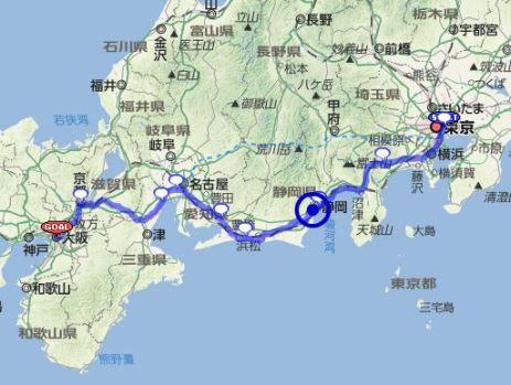 大阪-東京間550kmをロードバイクで走るキャノンボール完全マニュアル!