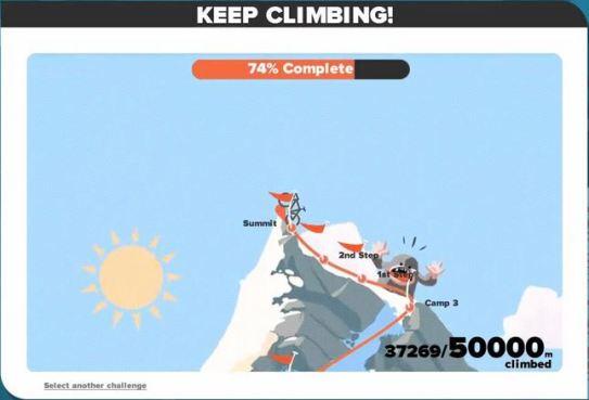 「CLIMB MT.EVEREST」第二段階 50000m獲得 Concept Z1(通称トロンバイク) zwift ズイフト チャレンジ