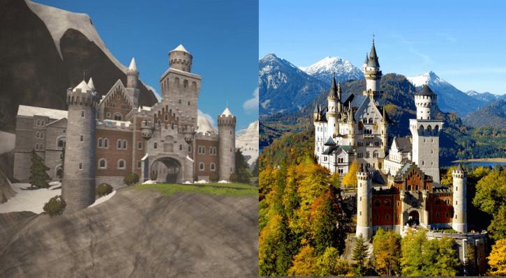 ZWIFT(ズイフト) Watopia開発秘話 ドイツのノイシュヴァンシュタイン城