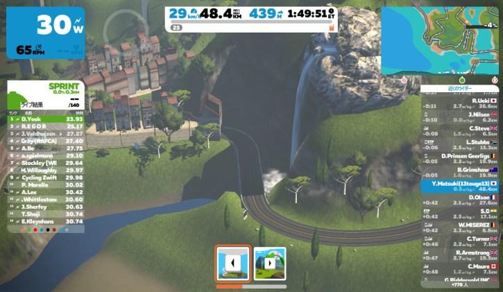 滝のグラフィック ZWIFT(ズイフト) Watopia開発秘話 コース 壮大な景色の裏にあるグラフィック的技巧の数々@Mountain8