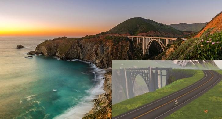 ZWIFT(ズイフト) Watopia開発秘話 アメリカのカリフォルニアに架かっているビクスビー橋
