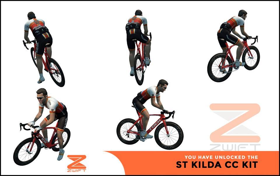 St Kilda CC ZWIFT(ズイフト) 全ジャージ入手方法、プロモコード一覧