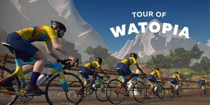zwift ズイフト イベント Tour of Watopia