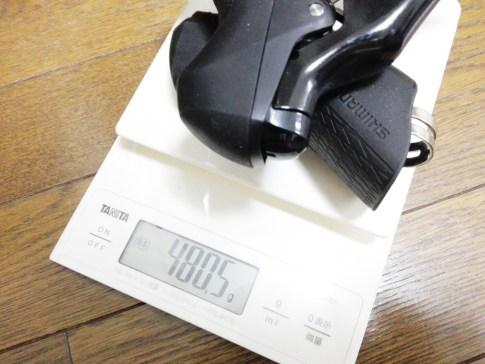 STIレバー R7000の実測重量を、公表重量や5800、R8000、R9100と比較