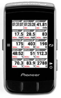 1ページに表示される項目数も9⇒15に増加 Pioneer新型サイコンSGX-CA600は秀逸!新型パワメ、アプリもチェック。