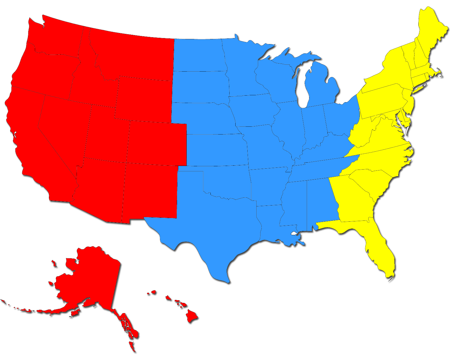 5 Regions Of Usa Map
