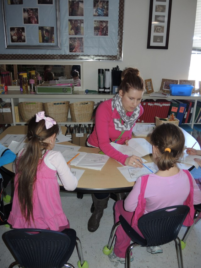 Morinville Public School Grade 1 teacher Monique Webb, students Mckayla Smith and Alanna Feltham were all dressed up in pink for Anti-Bullying day awareness on Wednesday.