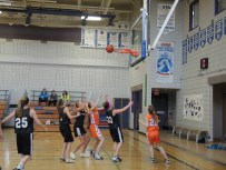 The Morinville Community High School (MCHS) Wolves Junior Girls team played the Edwin Parr Composite Predators Friday afternoon, the first game in a two-day mixed tournament. The Junior Boys played at MCHS, the Girls at Primeau for the remain- ing games. Results were not available by our press deadline.