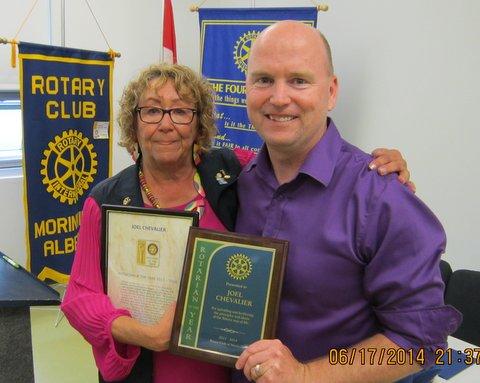 Rotarian of the Year Joel Chevalier