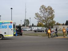 2 vehicle collision in front of Drayden Insurance Wednesday.