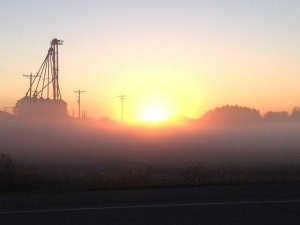 Melodie Steel-Foggy sunrise (2nd of two) taken Friday morning just south of the tracks on 100 st.