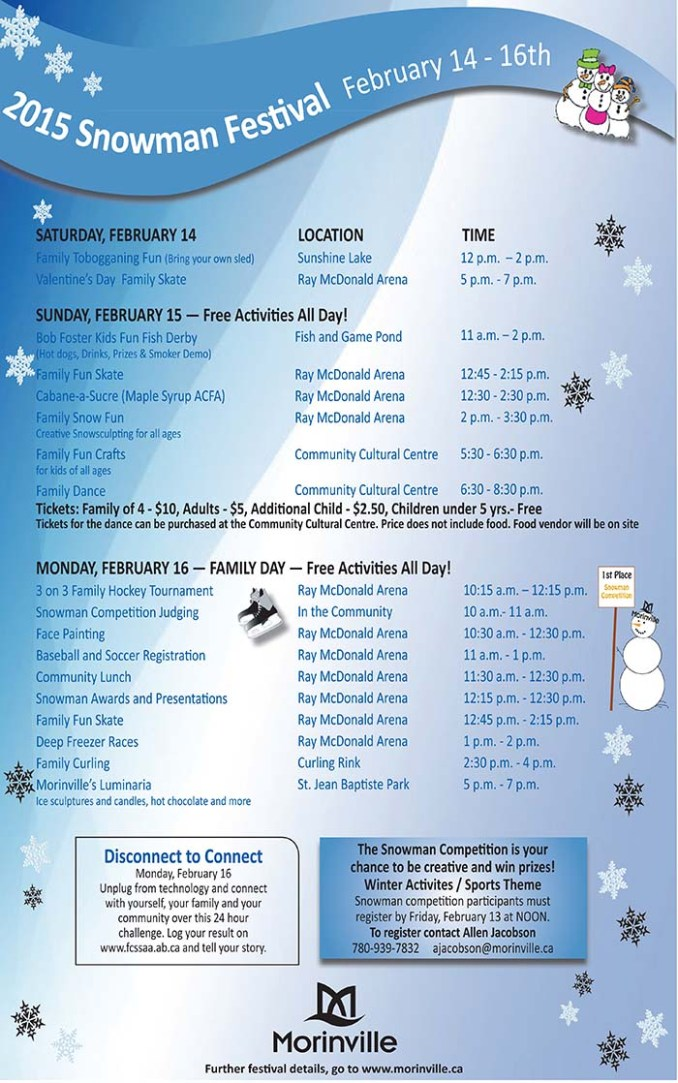 snowman festival calendar