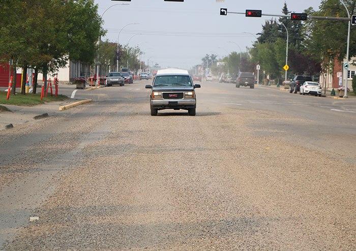 Morinville's main street to have chip seal ground off and then be re-paved east of the rail crossing to East Boundary Road starting May 25 weather dependent