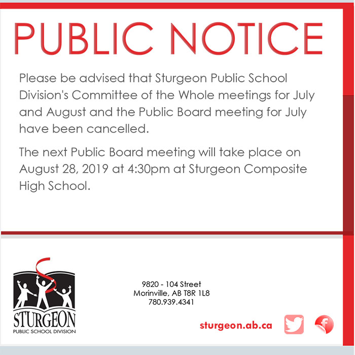 Public Notice Board and CoW cancelled – MN