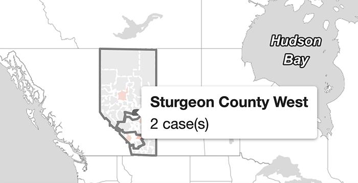West Sturgeon has 2 cases of COVID-19, Alberta Health map ...