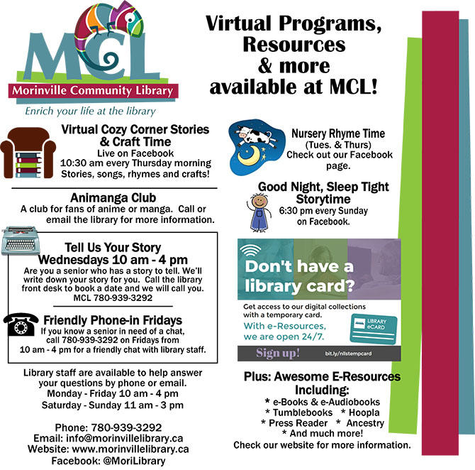 MCL's Virtural Programs – Morinville News