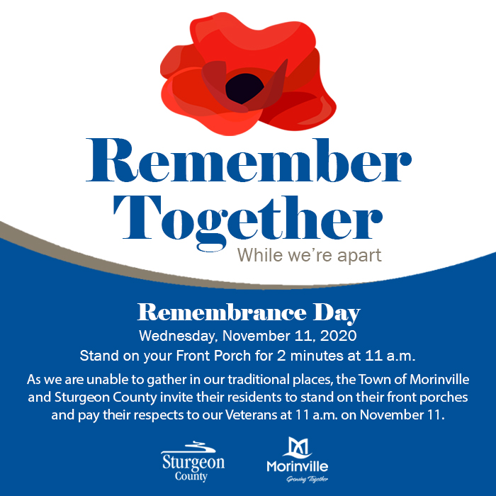 2020 Remembrance Day Morinville Online