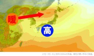 増田雅昭(気象解説者/気象予報士/ウェザーマップ所属)のブログより引用