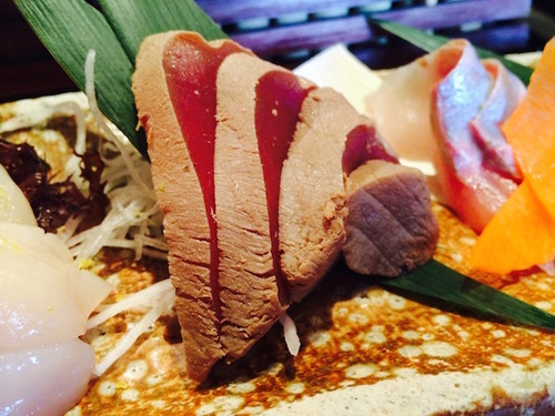 Sushi Ran - sustainable zuke chu toro (red wine cured medium fatty tuna)