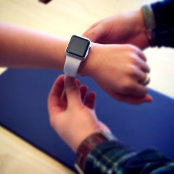 Trying on the Apple Watch - 3