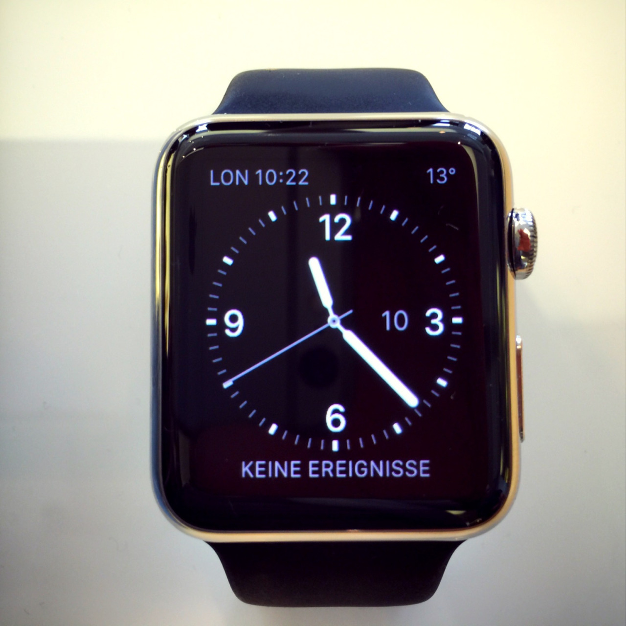 Trying on the Apple Watch - 7