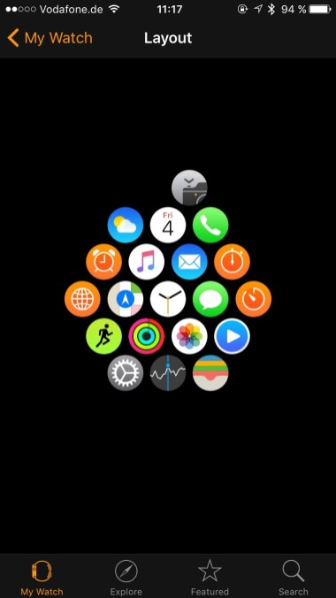 Apple Watch - App Layout