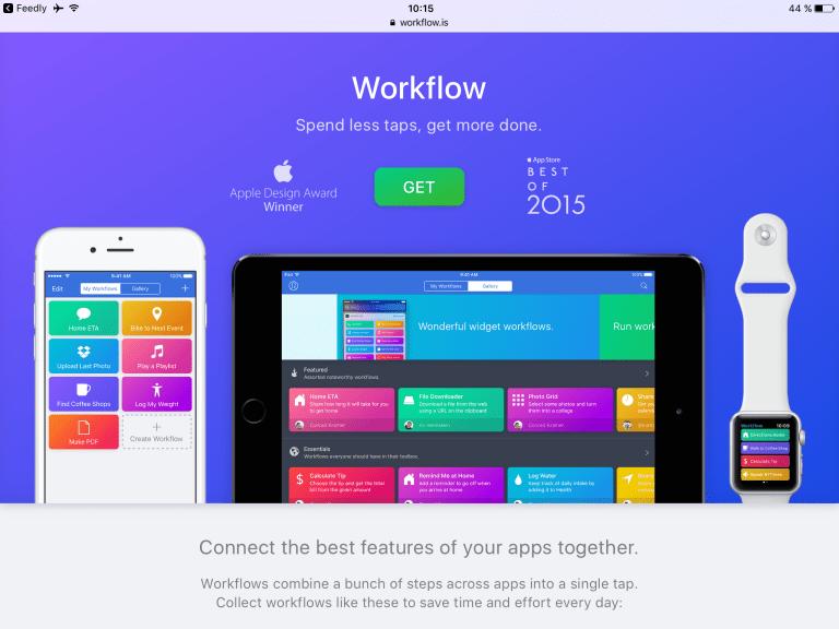 Workflow iOS app
