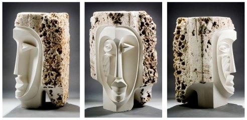 stone-bust-triptych