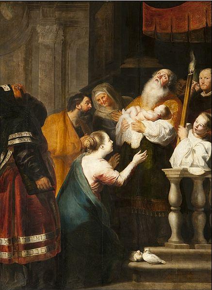 Cornelis de Vos_Jezus voorgesteld in de tempel_S