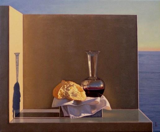 david-ligare_stilleven-met-brood-en-wijn