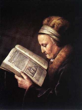 Gerrit_Dou_Vrouw die Bijbel leest_S