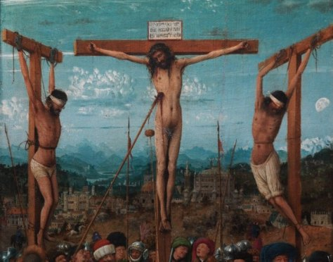 The Crucifixion; The Last Judgment by Jan van Eyck, photographed at The Metropolitan Museum of Art for Maryan Ainsworth's 82nd and 5th episode. © 2013 MMA, photographed by Anna-Marie Kellen. The Crucifixion; The Last Judgment Jan van Eyck and Workshop Assistant (Netherlandish, Maaseik ca. 1390–1441 Bruges) Date: ca. 1435–40 Medium: Oil on canvas, transferred from wood Dimensions: Each 22 1/4 x 7 2/3 in. (56.5 x 19.7 cm) Classification: Paintings Credit Line: Fletcher Fund, 1933 Accession Number: 33.92ab Working Title/Artist: The Crucifixion; The Last JudgmentDepartment: European PaintingsCulture/Period/Location: HB/TOA Date Code: 08Working Date: 1430 Digital Photo File Name: ef1_33.92ab_301139.tif Online Publications Edited By Steven Paneccasio for TOAH 12/30/2013