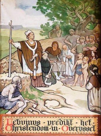 Lebuinus predikt het christendom in Overijssel