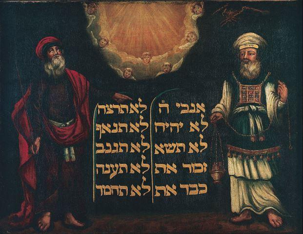 Moses, Aaron en de tafelen der wet_Onbekend_1692_Jewish Museum London_L