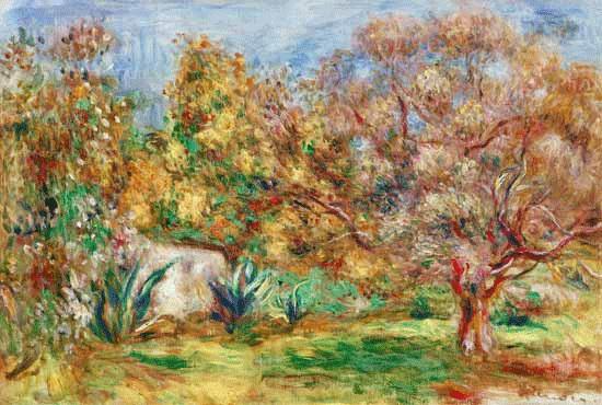 Pierre Auguste Renoir_Tuin met olijfbomen
